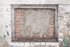 immured Fenster, Schmutzhintergrund lizenzfreies stockfoto