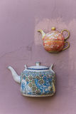 Immured teapots Royalty Free Stock Photography