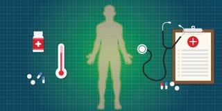 Immuunsysteem menselijk lichaam vector illustratie