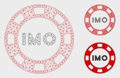 IMO象征性的传染媒介网状网络模型和三角马赛克象 向量例证