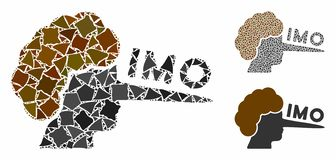 IMO lier Mosaic Icon of Irregular Parts