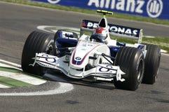 Imola - ИТАЛИЯ, 21-ое марта: Роберт Kubica на BMW F1 Sauber на GP 2006 F1 Сан-Марино 21-ого марта 2006 стоковая фотография rf