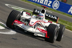 Imola, IT, April 2006 - Takuma Sato loopt met Super Aguri Honda F1 tijdens GP van San Marino Royalty-vrije Stock Afbeelding