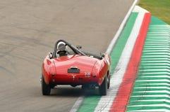Imola Classic 26 de octubre de 2018 - MASERATI A6 GCS 1954 conducido por Martin SUCARI, durante práctica en Imola Circuit fotos de archivo