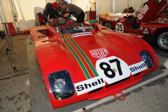 Imola Classic 22 oct 2016 - FERRARI 312 PB - driven by Steven READ and giovanni LAVAGGI during practice on imola Circuit Stock Photography