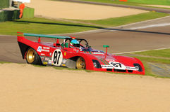 Imola Classic 22 oct 2016 - FERRARI 312 PB - driven by Steven READ and giovanni LAVAGGI during practice on imola Circuit Royalty Free Stock Images