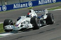 Imola - ITÁLIA, o 21 de março: Robert Kubica em Sauber BMW F1 em GP 2006 F1 de São Marino o 21 de março de 2006 Imagens de Stock