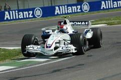 Imola - ITÁLIA, o 21 de março: Robert Kubica em Sauber BMW F1 em GP 2006 F1 de São Marino o 21 de março de 2006 Fotos de Stock Royalty Free
