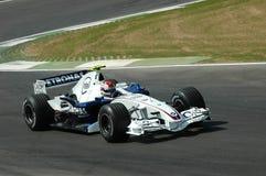 Imola - ITÁLIA, o 21 de março: Robert Kubica em Sauber BMW F1 em GP 2006 F1 de São Marino o 21 de março de 2006 Fotografia de Stock Royalty Free