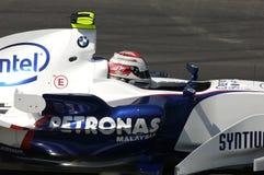 Imola - ITALIË, 21 MAART: Robert Kubica op Sauber BMW F1 bij 2006 F1 GP van San Marino op 21 MAART, 2006 Royalty-vrije Stock Afbeeldingen