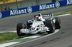 Imola - ITALIË, 21 MAART: Robert Kubica op Sauber BMW F1 bij 2006 F1 GP van San Marino op 21 MAART, 2006 Royalty-vrije Stock Foto