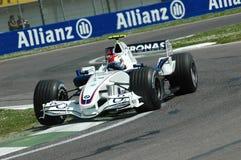 Imola - ITALIË, 21 MAART: Robert Kubica op Sauber BMW F1 bij 2006 F1 GP van San Marino op 21 MAART, 2006 Stock Foto's