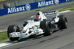 Imola - ITALIË, 21 MAART: Robert Kubica op Sauber BMW F1 bij 2006 F1 GP van San Marino op 21 MAART, 2006 Stock Afbeelding