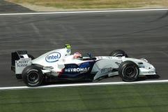 Imola - ITALIË, 21 MAART: Robert Kubica op Sauber BMW F1 bij 2006 F1 GP van San Marino op 21 MAART, 2006 Royalty-vrije Stock Foto's