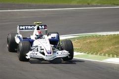 Imola - ITALIË, 21 MAART: Robert Kubica op Sauber BMW F1 bij 2006 F1 GP van San Marino op 21 MAART, 2006 Stock Fotografie