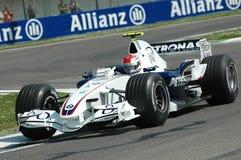 Imola - ITALIA, el 21 de marzo: Robert Kubica en Sauber BMW F1 en GP 2006 F1 de San Marino el 21 de marzo de 2006 Fotos de archivo