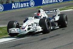Imola - ITALIA, el 21 de marzo: Robert Kubica en Sauber BMW F1 en GP 2006 F1 de San Marino el 21 de marzo de 2006 Imágenes de archivo libres de regalías