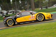 Imola, Italie le 13 mai 2016 : SPORT MÉCANIQUE de l'équipe JMW de Ferrari F458 Italie au rond d'ORMES d'Imola 2016 Photos stock