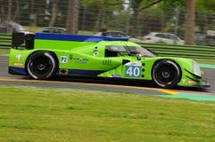 Imola Italien Maj 13, 2016: KROHN som SPRINGER USA Ligier JS P2 - Nissan som är drivande vid Bjorn Wirdheim SWE Nicla på ALMrunda Royaltyfria Foton