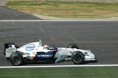 Imola - ITALY, MARCH 21: Robert Kubica on Sauber BMW F1 at 2006 F1 GP of San Marino on MARCH 21, 2006 Stock Photo