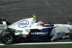 Imola - ITALY, MARCH 21: Robert Kubica on Sauber BMW F1 at 2006 F1 GP of San Marino on MARCH 21, 2006 Stock Image