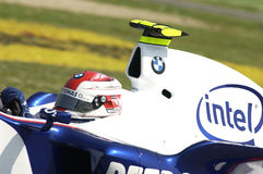 Imola - ITALY, MARCH 21: Robert Kubica on Sauber BMW F1 at 2006 F1 GP of San Marino on MARCH 21, 2006 Royalty Free Stock Photos