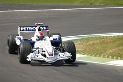 Imola - ITALY, MARCH 21: Robert Kubica on Sauber BMW F1 at 2006 F1 GP of San Marino on MARCH 21, 2006 Stock Photography