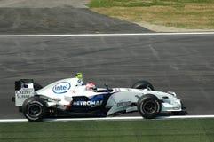 Imola - ITALY, MARCH 21: Robert Kubica on Sauber BMW F1 at 2006 F1 GP of San Marino on MARCH 21, 2006 Stock Photos