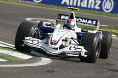 Imola - ITALY, MARCH 21: Robert Kubica on Sauber BMW F1 at 2006 F1 GP of San Marino on MARCH 21, 2006 Royalty Free Stock Photography