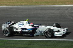 Imola - ITALY, MARCH 21: Robert Kubica on Sauber BMW F1 at 2006 F1 GP of San Marino on MARCH 21, 2006 Royalty Free Stock Image