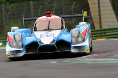 Imola, Italy May 13, 2016: ALGARVE PRO RACING PRT D Ligier JS P2 - Nissan at ELMS Round of Imola 2016. Imola, Italy May 13, 2016: ALGARVE PRO RACING PRT D Ligier Royalty Free Stock Photo