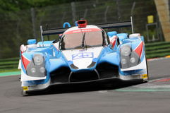 Imola, Italy May 13, 2016: ALGARVE PRO RACING PRT D Ligier JS P2 - Nissan at ELMS Round of Imola 2016. Imola, Italy May 13, 2016: ALGARVE PRO RACING PRT D Ligier Royalty Free Stock Photography