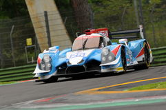 Imola, Italy May 13, 2016: ALGARVE PRO RACING PRT D Ligier JS P2 - Nissan at ELMS Round of Imola 2016. Imola, Italy May 13, 2016: ALGARVE PRO RACING PRT D Ligier Stock Photo