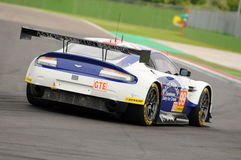 Imola, Italy May 13, 2016: Aston Martin V8 Vantage, driven by Andrew Howard GBR, Darren Turner GBR at ELMS Round of Imola 2016 Stock Images