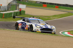 Imola, Italy May 13, 2016: Aston Martin V8 Vantage, driven by Andrew Howard GBR, Darren Turner GBR at ELMS Round of Imola 2016 Stock Photo