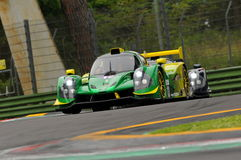 Imola, Italy May 13, 2016: INTER EUROPOL COMPETITION POL Ligier JS P3 at ELMS Round of Imola 2016 Royalty Free Stock Images