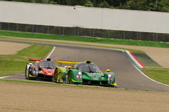 Imola, Italy May 13, 2016: INTER EUROPOL COMPETITION POL Ligier JS P3 at ELMS Round of Imola 2016 Stock Images