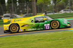 Imola, Italy May 13, 2016: INTER EUROPOL COMPETITION POL Ligier JS P3 at ELMS Round of Imola 2016 Royalty Free Stock Photography