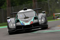 Imola, Italy May 13, 2016: PANIS BARTHEZ COMPETITION FRA Ligier JS P3 - Nissan at ELMS Round of Imola 2016. Imola, Italy May 13, 2016: PANIS BARTHEZ COMPETITION Royalty Free Stock Image