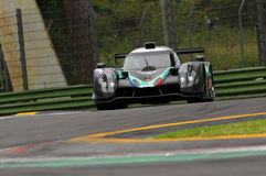 Imola, Italy May 13, 2016: PANIS BARTHEZ COMPETITION FRA Ligier JS P3 - Nissan at ELMS Round of Imola 2016. Imola, Italy May 13, 2016: PANIS BARTHEZ COMPETITION Royalty Free Stock Photography