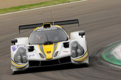 Imola, Italy May 13, 2016: RLR MSPORT GBR Ligier JS P3 - Nissan driving by Morten Dons DNK Ossy Yusu at ELMS Round of Imola 2016 Stock Image