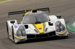 Imola, Italy May 13, 2016: RLR MSPORT GBR Ligier JS P3 - Nissan driving by Morten Dons DNK Ossy Yusu at ELMS Round of Imola 2016 Royalty Free Stock Image