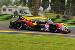 Imola, Italy May 13, 2016: BY SPEED FACTORY ESP M Ligier JS P3 - Nissan at ELMS Round of Imola 2016 Royalty Free Stock Photos