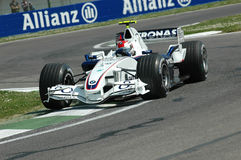 Imola - l'ITALIA, il 21 marzo: Robert Kubica su Sauber BMW F1 al GP 2006 F1 di San Marino il 21 marzo 2006 Immagine Stock Libera da Diritti