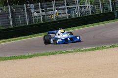Imola, o 27 de abril de 2019: 1976 F1 hist?ricos Tyrrell P34 Ronnie Peterson ex conduzido por Pierluigi Martini na a??o fotografia de stock royalty free