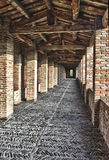 Imola Rocca Sforzesca walkway, Italy Royalty Free Stock Images