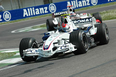 Imola, WŁOCHY -, MARZEC 21: Robert Kubica na Sauber BMW F1 przy 2006 F1 GP San Marino na MARZEC 21, 2006 Zdjęcie Stock