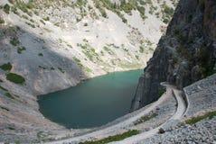 Imotski, berühmter blauer See in Kroatien Stockbild