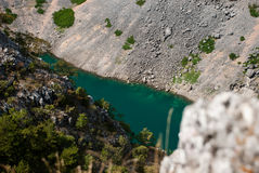 Imotski, berühmter blauer See in Kroatien Stockfotos