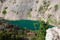 Imotski, berühmter blauer See in Kroatien Lizenzfreie Stockbilder